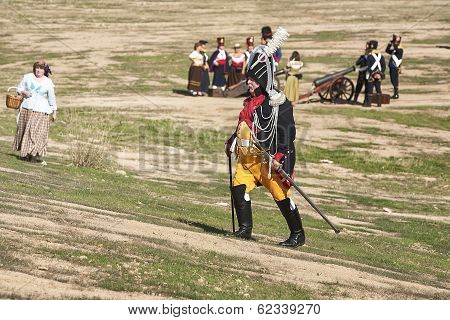 General Of The French Army On The Battlefield In Representation Of The Battle Of Bailen