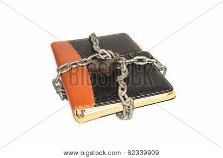 A Padlock Protects The Secrets In A Book