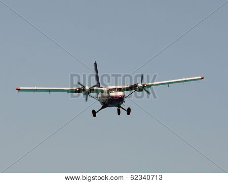 Propeller Airplane Approaching