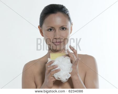 Body Care Asian Woman