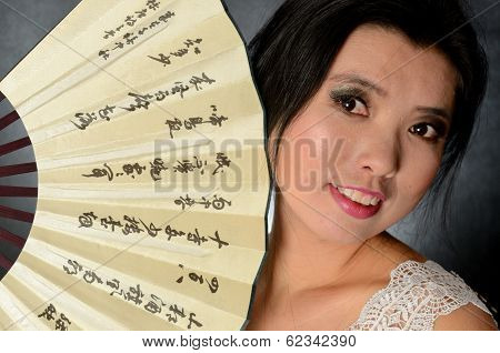 Chinese Lady With Fan