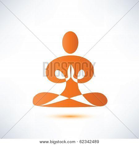 Yoga, Meditation Vector Symbol