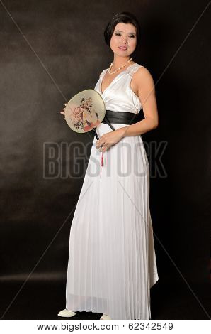 Asian Female With Long Dress