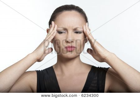 Asian Woman Headache