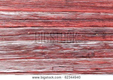 Worn Horizontal Timber Wall