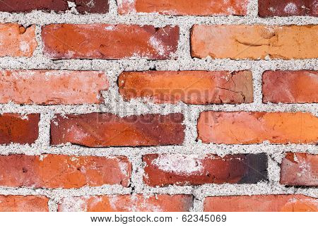 Old Variable Colored Brick Wall