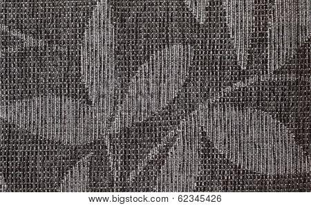 Black Nodes Forming A Shape Of A Leaf