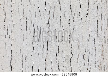 Dry White Paint With Upright Cracks