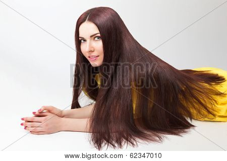 Beautiful Girl with long thick hair