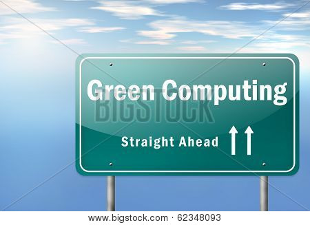 Highway Signpost Green Computing