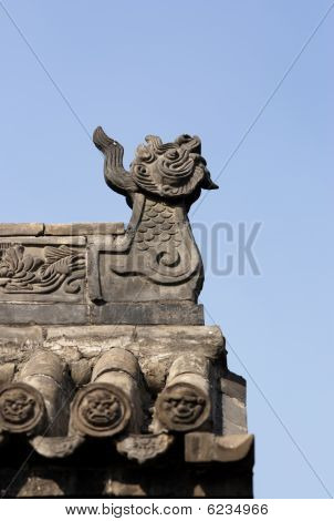 dragon roof of chinese temple of Shanxi province�china