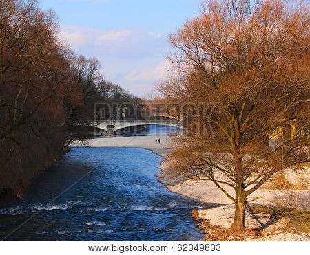 The Isar River Munich