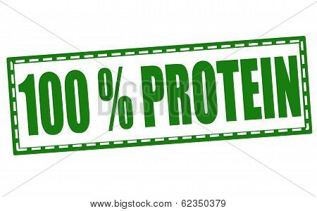 100% Protein Stamp