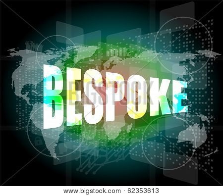 Business Concept, Bespoke Digital Touch Screen Interface