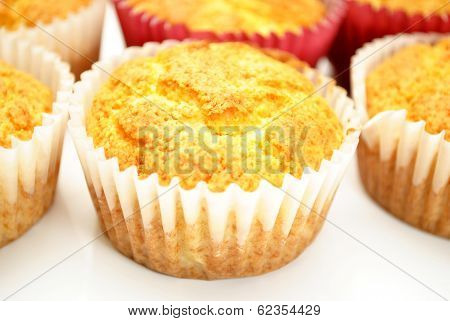 Homemade Corn Muffins Cooling
