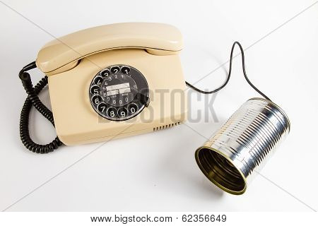 Cans phone meets dial phone