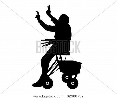 Woman With Rollator