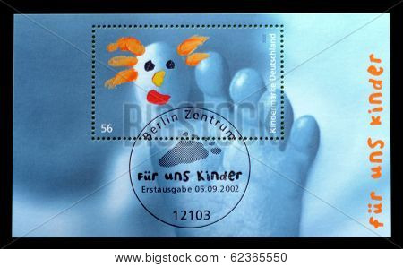 Germany postage block