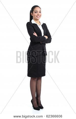 Arab Business Standing Confident Woman Posing Happy