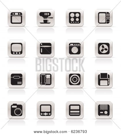 Simple Home and Office, Equipment Icons