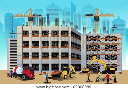 Building Construction Scene