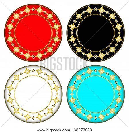 Gold Gazania Circle Frame