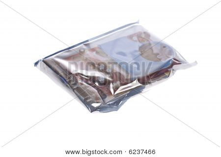 Antistatic bag protecting a video card