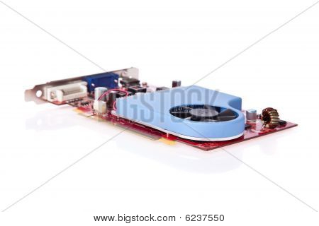 PCI video card with cooler