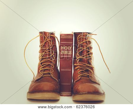 Bible and boots