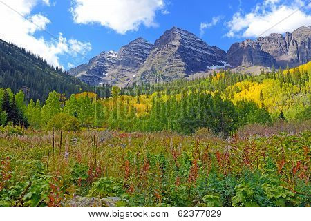 Fall Foliage and the Maroon Bells, Rocky Mountains Colorado