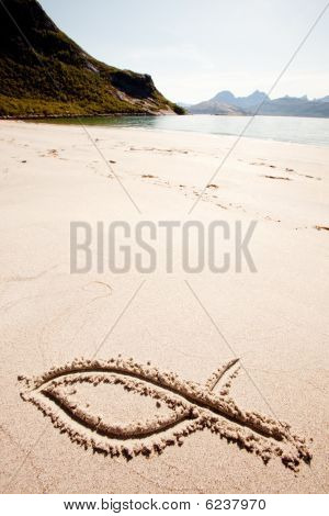 Fish Sand Symbol