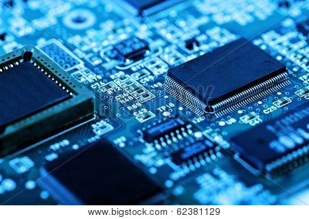 abstract close up mother board background