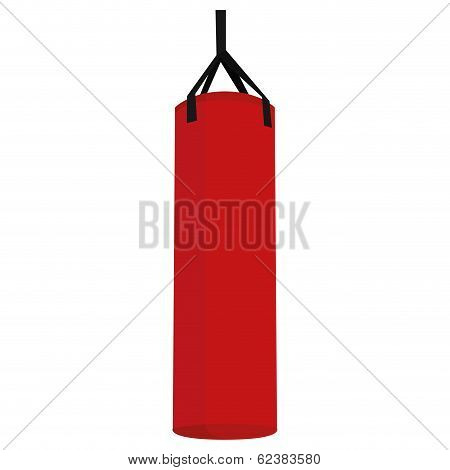 Vector Punching Bag Illustration Isolated On White Background