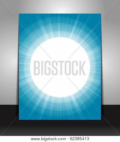 Abstract poster template background