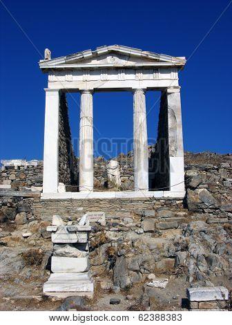 Pantheon In Delos,greece