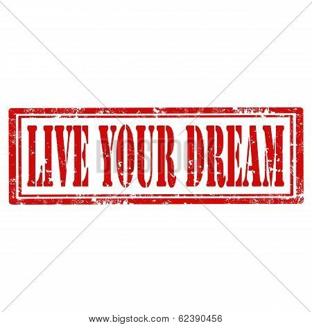 Live Your Dream-stamp