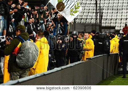 Hooliganism During A Football Game