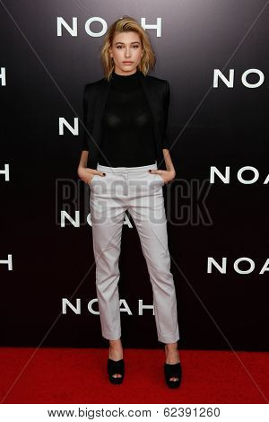 NEW YORK-MAR 26: Model Hailey Baldwin attends the premiere of