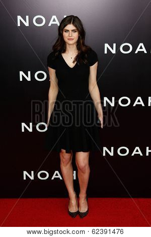 NEW YORK-MAR 26: Actress Alexandra Daddario attends the premiere of