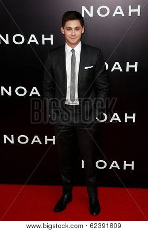 NEW YORK-MAR 26: Actor Logan Lerman attends the premiere of