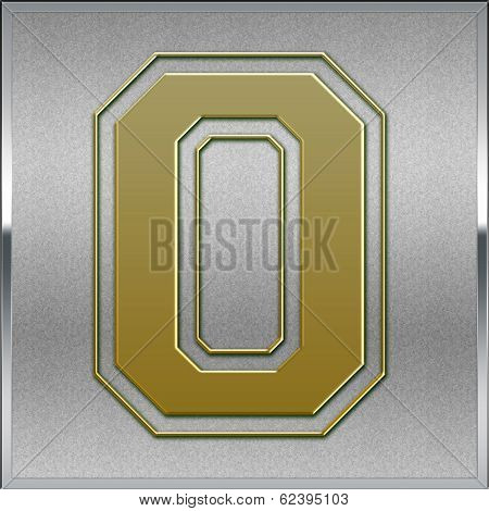 Gold On Silver Number 0 Place Sign