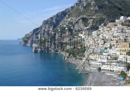 Casas en la costa de Amalfi