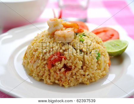 Fried Rice With Shrimp.