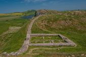 foto of legion  - A roman gateway on Hadrians Wall on the Scottish - JPG