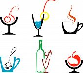 Set of beverages and drinks symbols