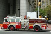 FDNY Engine 205 in Lower Manhattan