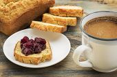 stock photo of home-made bread  - gluten free breakfast  - JPG