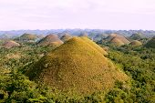 stock photo of chocolate hills  - Chocolate Hills on the  Bohol Island Philippines - JPG