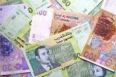 stock photo of dirhams  - Mixed UAE Dirhams currency notes  - JPG