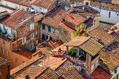 Detail View Of Traditional Italian Town Roofs